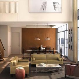200 Eleventh Avenue Living Room – Manhattan Condos for Sale