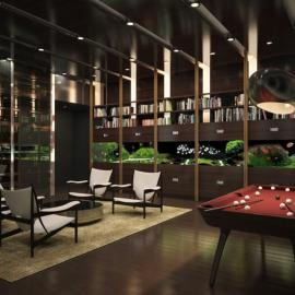 One57 - NYC Condos - Lounge Area - 157 West 57th Street Midtown West Apartments