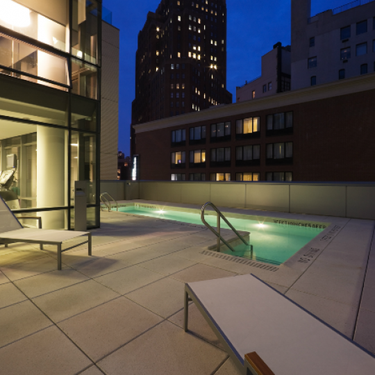 One York New Construction Building Sundeck – NYC Condos