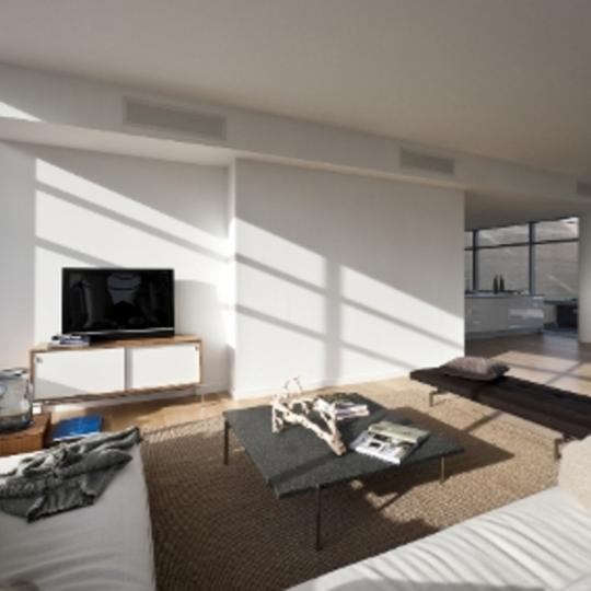 1 York Street Living Room – Manhattan New Condos