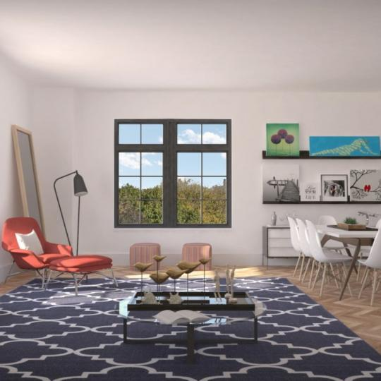 Livingroom at 100 Avenue A in East Village - Condos for sale