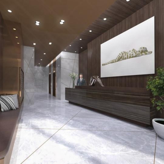 The Building's lobby at 100 Avenue A in NYC