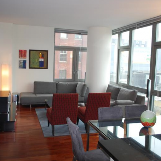 Living Room at 100 Jay Street - Condos for sale