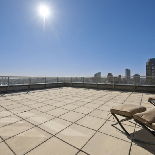 Stunning views from the Rooftop Deck at J Condominium