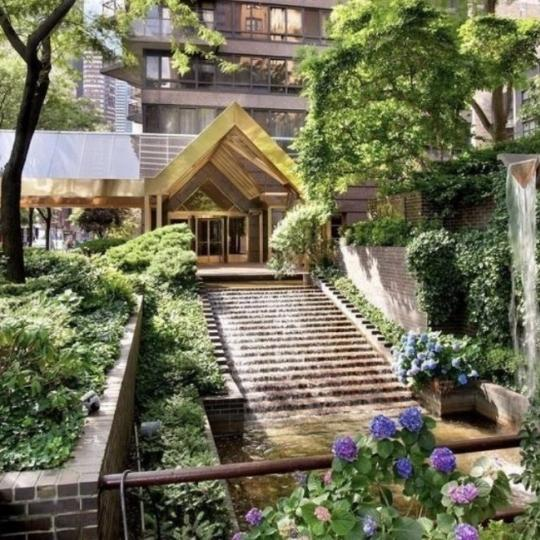Garden at 100 United Nations Plaza in NYC - Apartments for sale