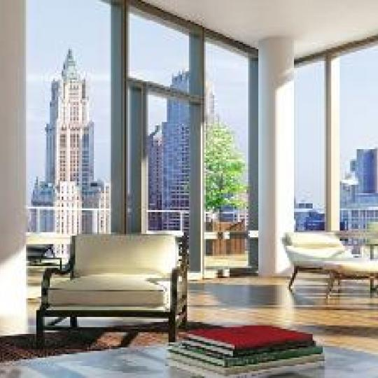 101 Warren Street Living Room - Manhattan Condos for Sale