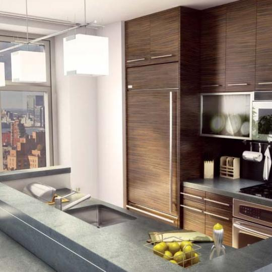 Chelsea Stratus Kitchen Area - New Condos for Sale NYC