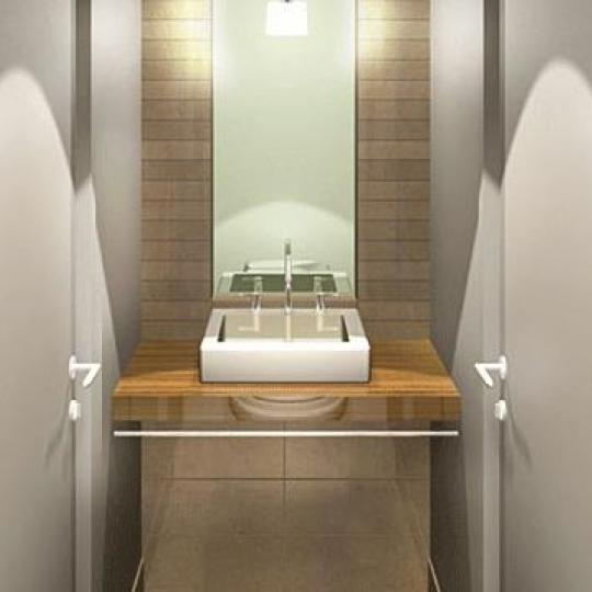 11 East 36th Street Powder Room - NYC Condos for Sale