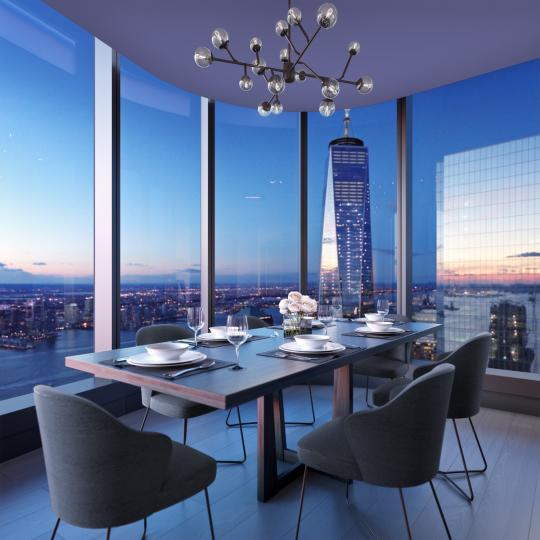 Dining Area at 125 Greenwich Street in Manhattan