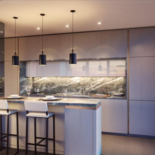 Open Kitchen at 125 Greenwich Street in NYC - Apartments for sale