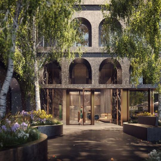 Entrance at 130 William Street - Apartments for sale