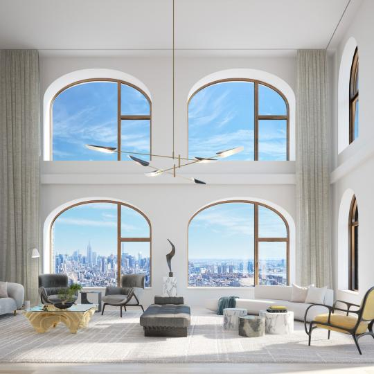 Living Room at 130 William Street - Apartments for sale