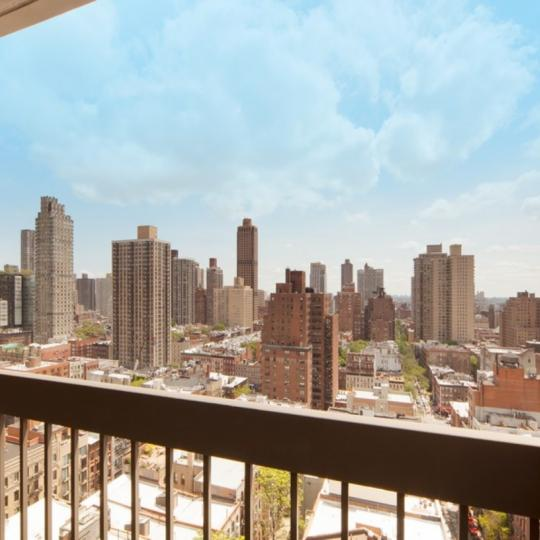 View from the Private Balcony at Le Trianon in Upper East Side