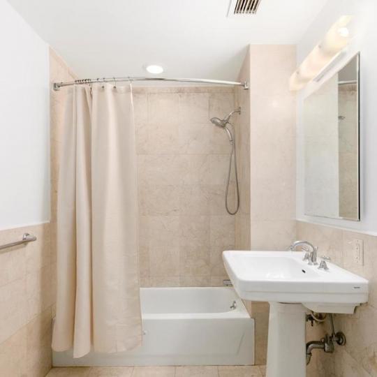 Bathroom at Rosa Parks Condominium in Manhattan
