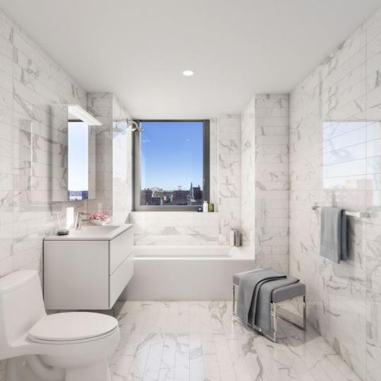 Bathroom at The Cereza in East Harlem - Condos for sale