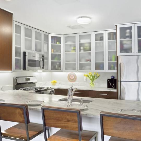 Kitchen at 2002 Fifth Avenue in NYC - Condos for sale