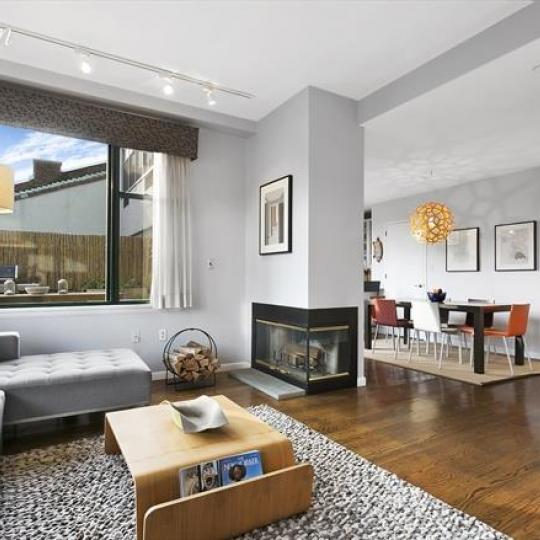 Living Room at 2002 Fift Avenue in Manhattan - Condos for sale