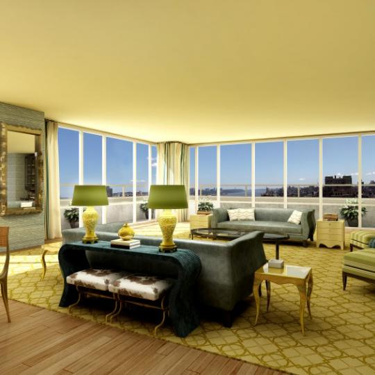 200 West End Avenue Living Room - Manhattan Condos for Sale
