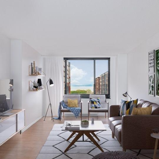 Living Room at Liberty Court in Battery Park City