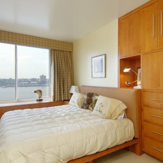 The Bedroom at 200 Riverside Boulevard in NYC