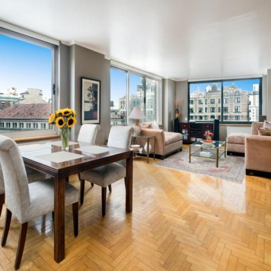 Living Area at The Alexandria in Manhattan - Apartments for sale
