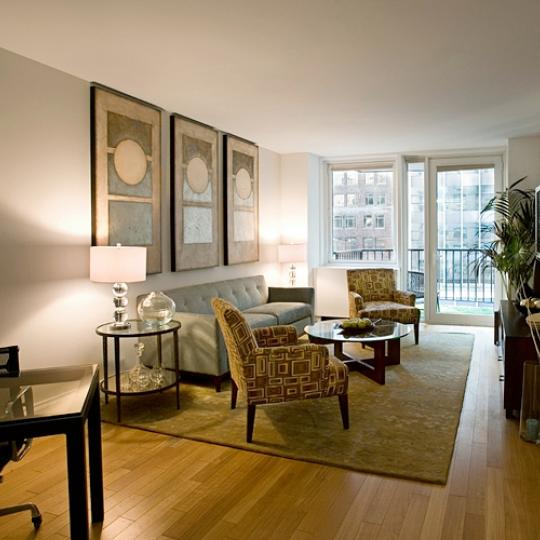 212 East 47th Street Living Room – Condominiums for Sale NYC