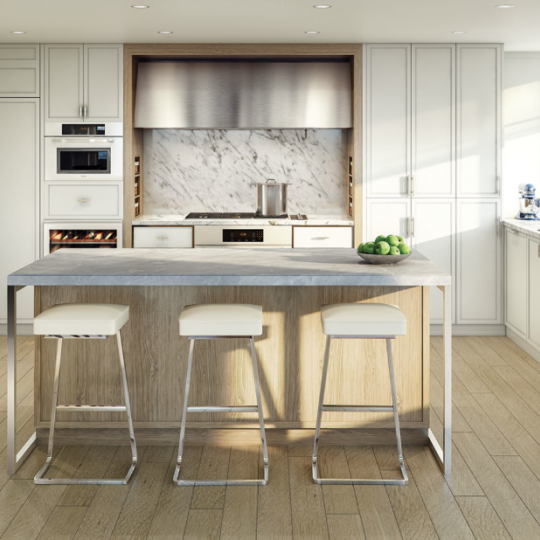 Open Kitchen at 212 Warren Street in NYC - Condos for sale