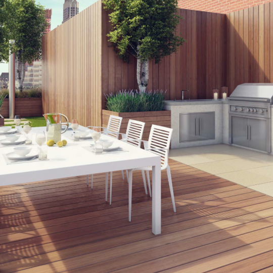 Private Terrace at River & Warren in Battery Park City