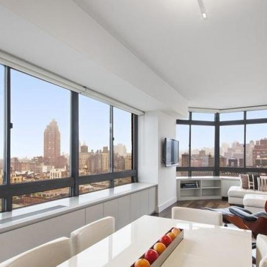 Livnig Area at The Bromley in Manhattan - Condos for sale