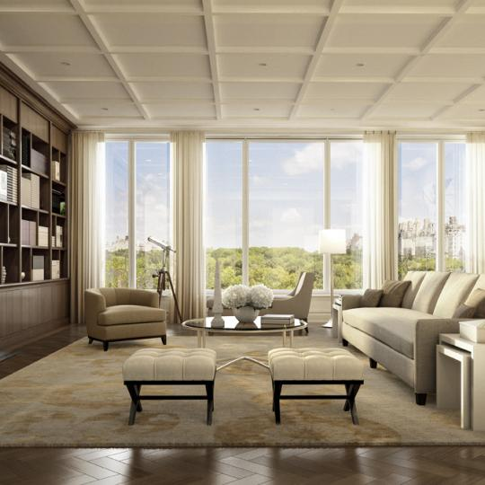 22 Central Park South - Living Room - Apartments for Sale
