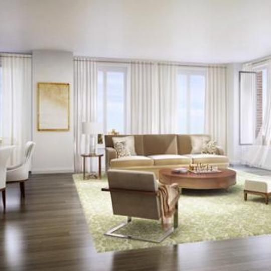 Linden 78 New Construction Building Living Room - NYC Condos