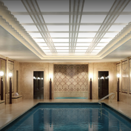 Swimming pool in the building at Woolworth Tower