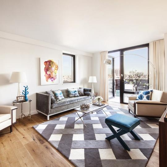 Living Room at The Adeline in Manhattan - Condos for sale