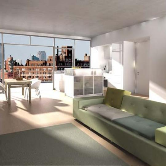 246 West 17th Street Living Room - Manhattan Condos for Sale
