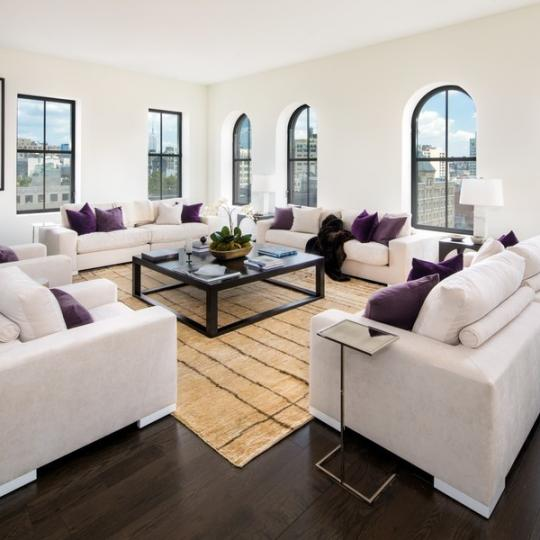 250 West Street Living Room - Manhattan Condos