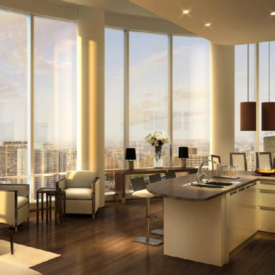 The Alexander New Construction Building Living Room - NYC Condos
