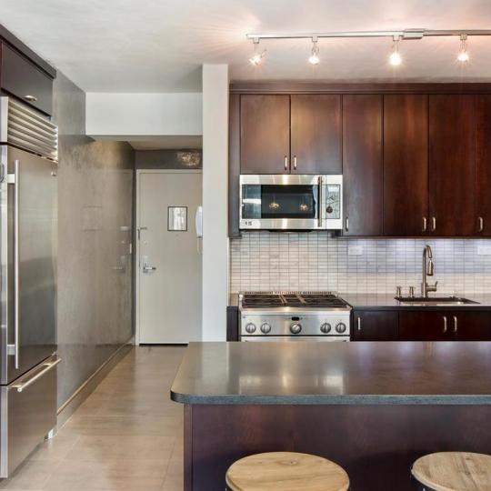 Open Kitchen at The Highpoint in NYC - Apartments for sale