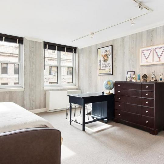 Bedroom at Claremont Condominium in Manhattan