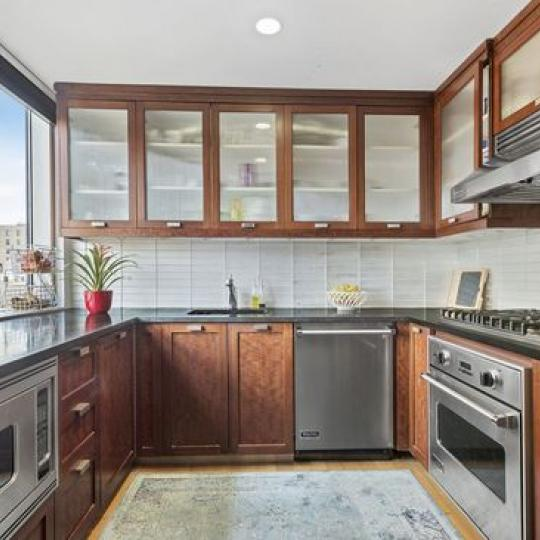 Ariel East Kitchen Area – Condominiums for Sale NYC