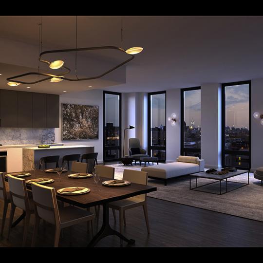 Living Room at 287 East Houston Street in Manhattan
