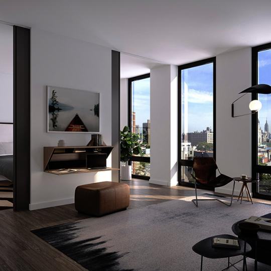 Living Area at 287 East Houston Street in NYC - Condos for sale