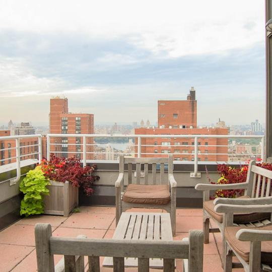 Private Terrace at 300 East 93rd Street in Manhattan