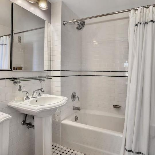 Bathroom at Strivers Garden in NYC - Apartments for sale