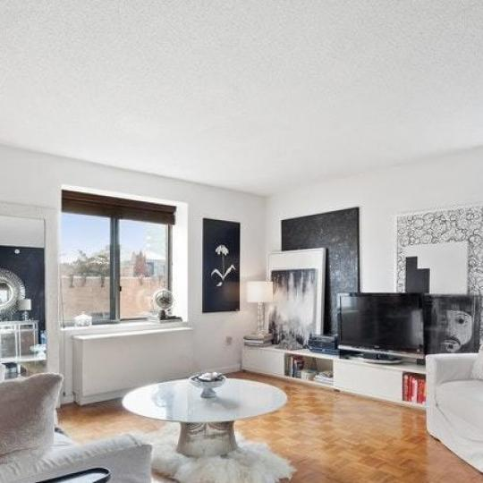 Living Room at 300 West 135th Street in NYC - Condos for sale