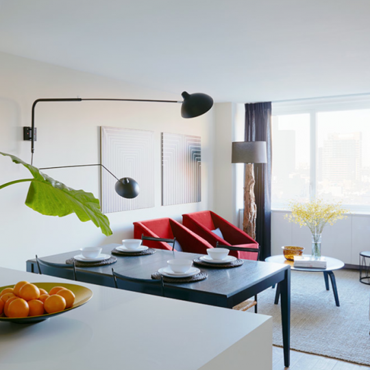 Living room at Fifty Third and Eighth - 2 Bedroom apartment