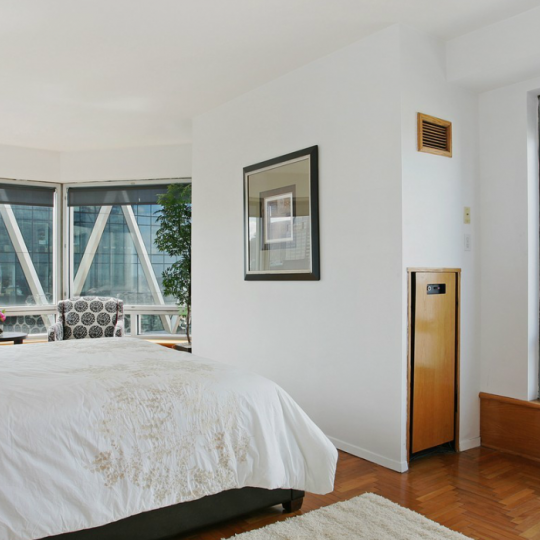 The bedroom at 301 west 57th street