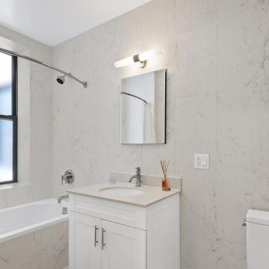 Bathroom at 305 West 150th Street in Manhattan - Apartments for sale