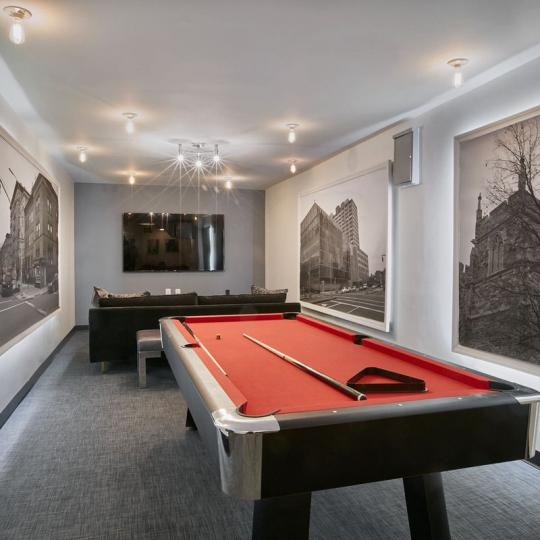 Condos for sale at 305 West 150th Street in NYC - Billiards Room