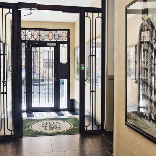 Entrance at 305 West 150th Street in Manhattan - Apartments for sale