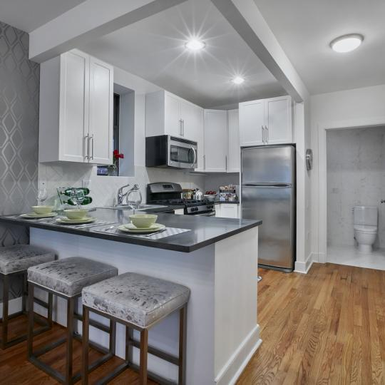 Condos for sale at 305 West 150th Street in NYC - Kitchen